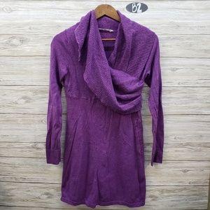 Athleta Purple Long Sleeve Sweater Dress